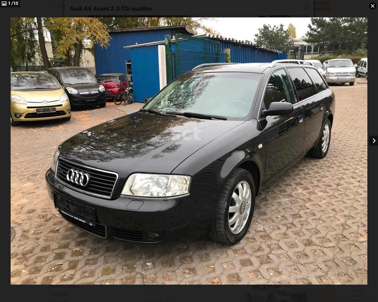 Audi A6 2004 года растаможить в Украине