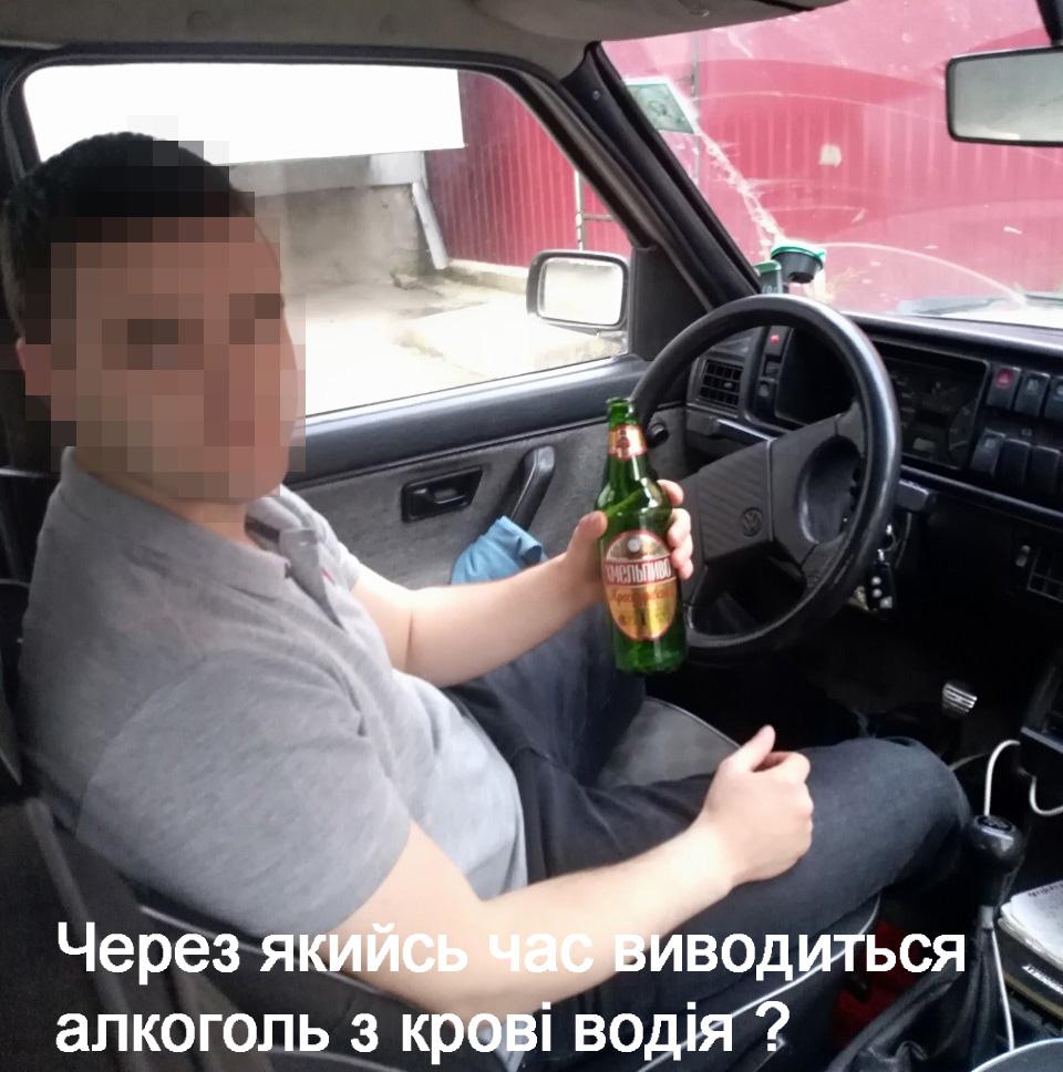 Через який час алкоголь виводиться з крові водія