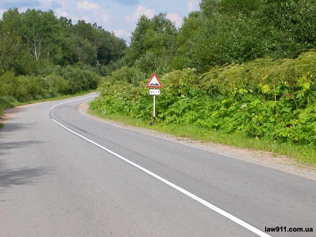 крутой поворот - опасный участок дороги