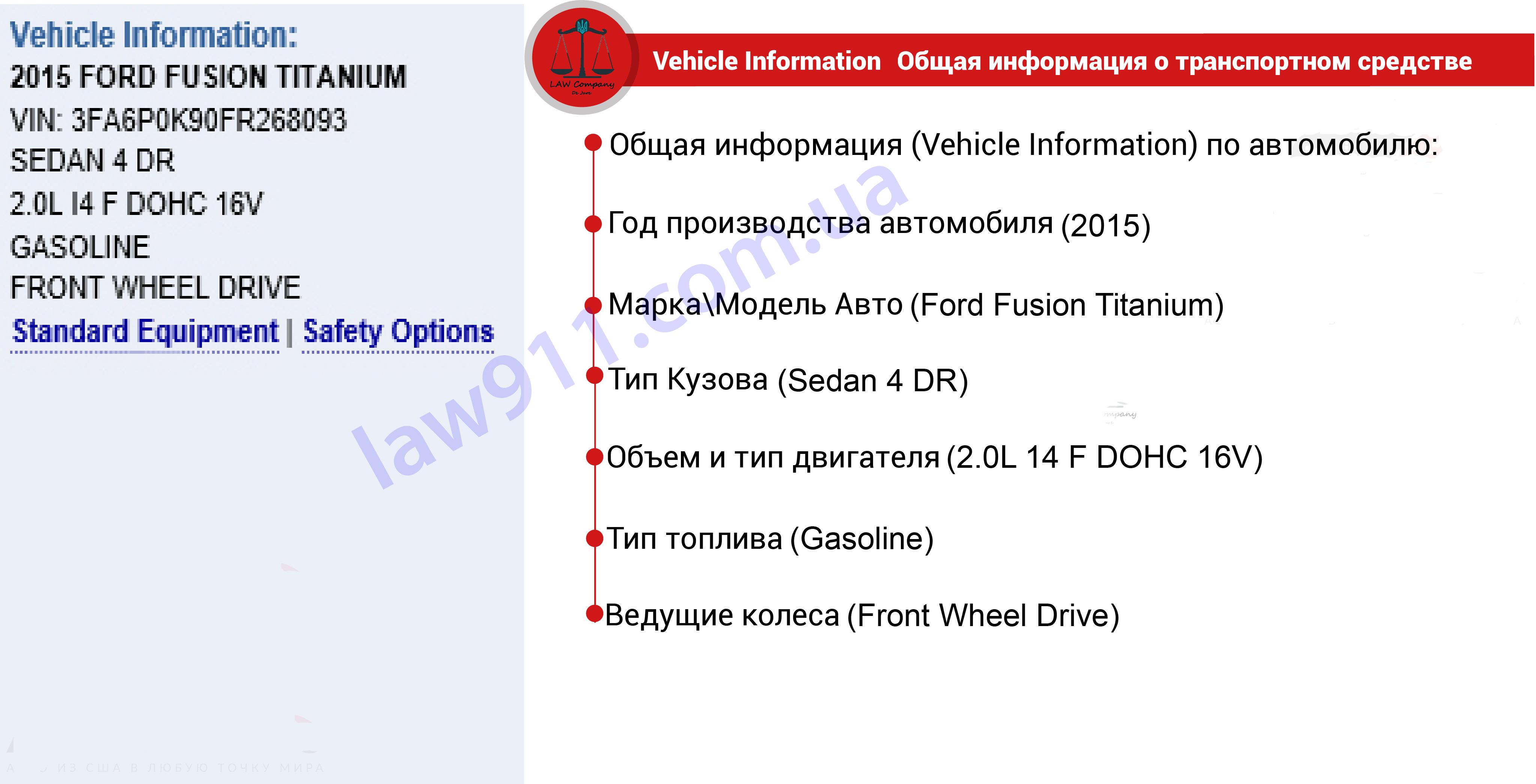 Общая информация от Carfax