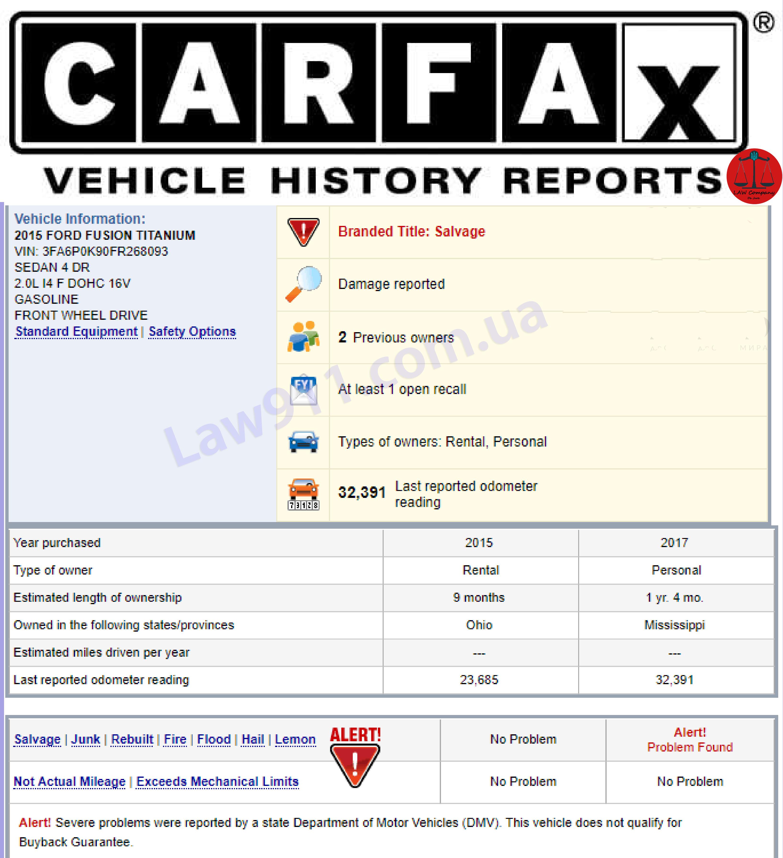 Отчет от Carfax