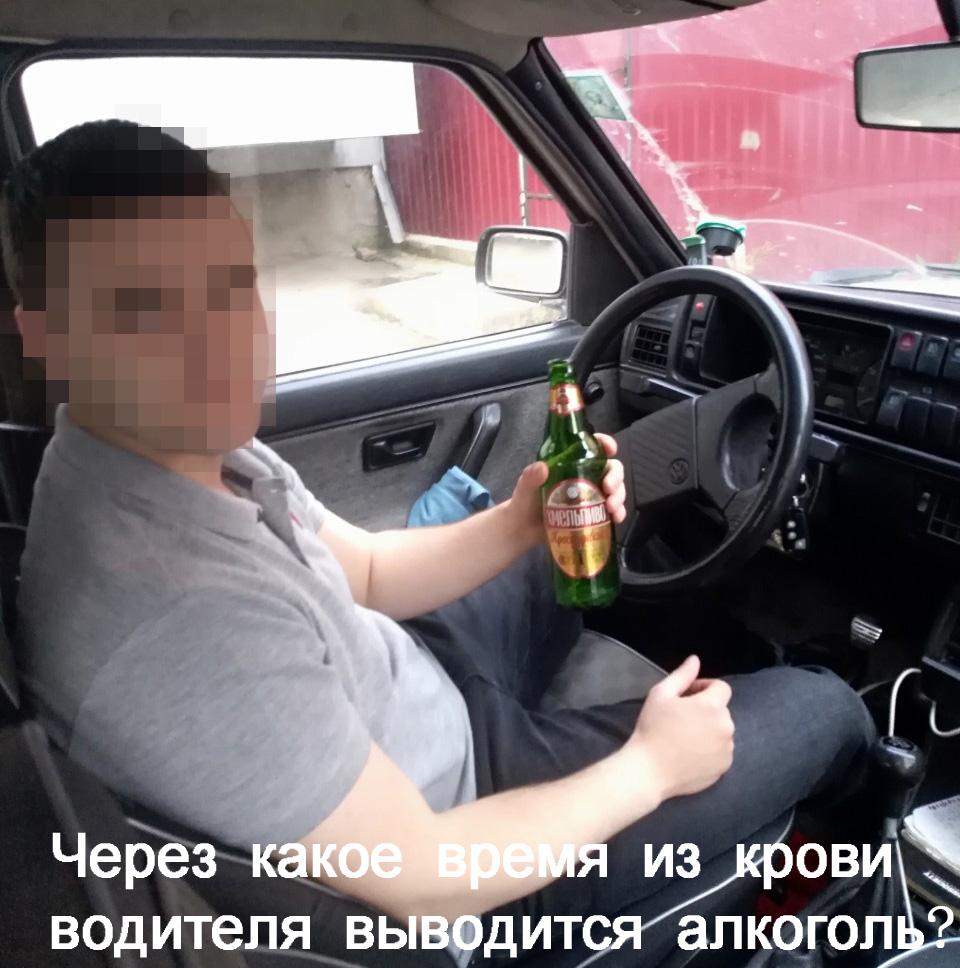 Через какое время из крови водителя выводится алкоголь