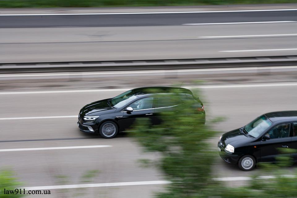 Велика швидкість авто