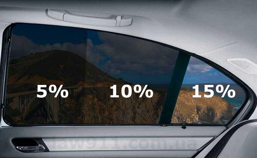 Разрешенная тонировка стекол авто